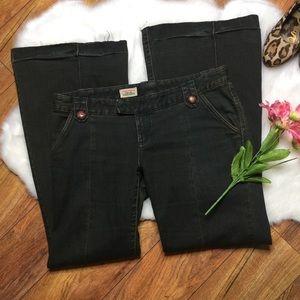 Free People flare dark jeans